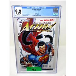 "Graded 2011 ""Action Comics #2"" DC Comic"
