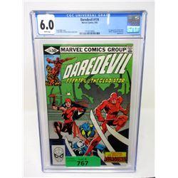 """Graded 1981 """"Daredevil #174"""" Marvel Comic"""