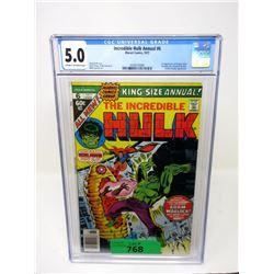 "Graded 1977 ""Incredible Hulk Annual #6"" Comic"