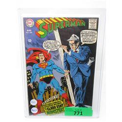 "1968 ""Superman #209"" 12¢ DC Comic"
