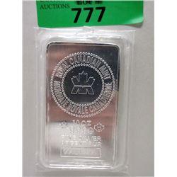10 Troy Ounce .9999 Silver RCM Bar