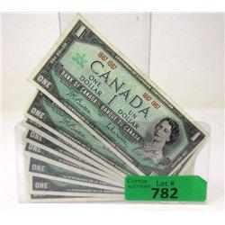 10 Canadian Centennial 1967 One Dollar Bills