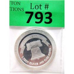 "1 Oz. .999 Fine Silver ""Liberty Bell"" Round"