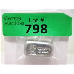 1 Oz. Grimm Metals .999 Fine Indium Loaf Bar