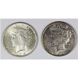 1925 AND 1925-S PEACE SILVER DOLLARS