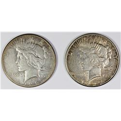 1926-S AND 1927-S PEACE SILVER DOLLARS