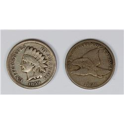 1858 AND 1859 CENTS