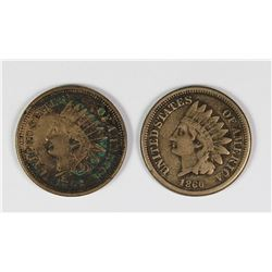 (2) INDIAN HEAD CENTS