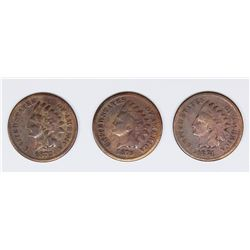 (3) INDIAN CENTS