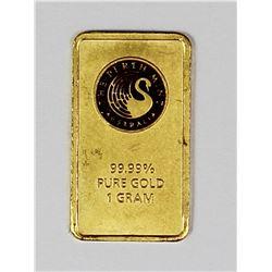 PERTH MINT 1 GRAM GOLD BAR