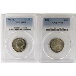 1951-S AND 1950 WASHINGTON QUARTERS