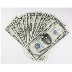 (16) 1934 $5.00 SILVER CERTIFICATES