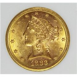 1883-S $5.00 GOLD