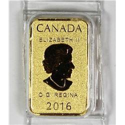 2016 1/10 OZ .999 GOLD
