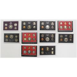 U.S. PROOF SETS: 10 SETS TOTAL