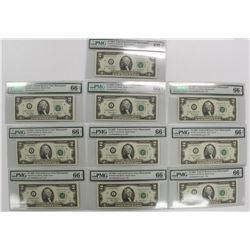 TEN 2003 $2.00 NOTES