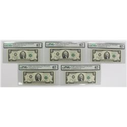FIVE 2003 $2.00 NOTES