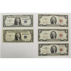 SILVER CERTIFICATES AND $2 NOTES