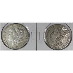 1884 AND 1884-S MORGAN SILVER DOLLARS