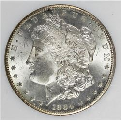 1884-CC MORGAN SILVER DOLLAR