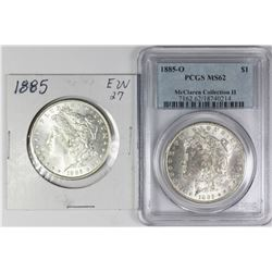 TWO MORGAN SILVER DOLLARS
