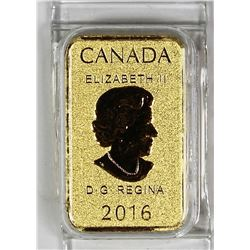 2016 CANADA .999 1/10 OZ GOLD BAR