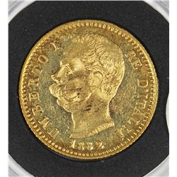1882 ITALY GOLD .999