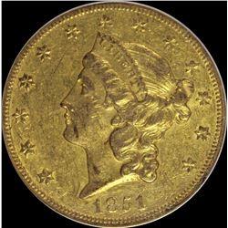 1851-O $20.00 GOLD