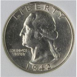 1942-S WASHINGTON QUARTER
