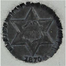 1870 THREE CENT SILVER