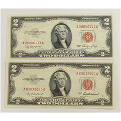 (3) 1953-A AND (4) 1953 $2.00 U.S. NOTES