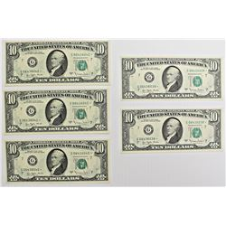 EXTREMELY RARE SET OF 5-1977 A $10.00 NOTES