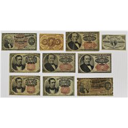 10 PCS. FRACTIONAL CURRENCY
