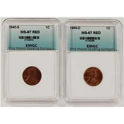 1945-S AND 1949-D LINCOLN CENTS