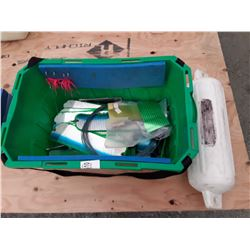 Box of Flashers and Boat Bumper