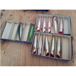 "3 Boxes of 6"" Tomic Salmon Plugs"