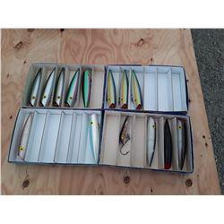 "4 Boxes of 6"" Tomic Salmon Plugs"