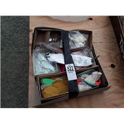 Box of Flashers, Lures, Etc.