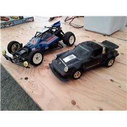 RC Porsche and RC Racecar No Remotes