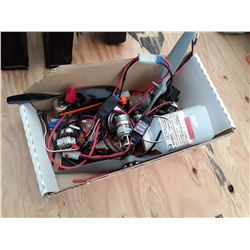 Box of RC Plane Parts