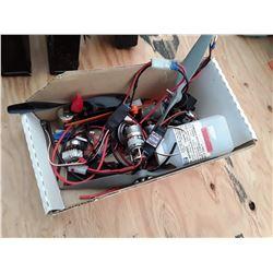 Box of RC Plane Parts