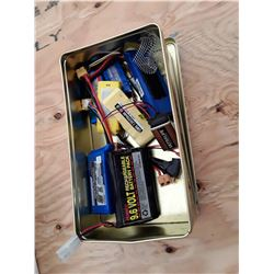 Box of RC Plane Batteries