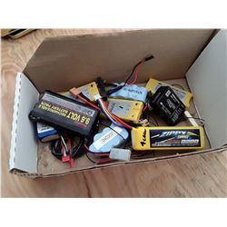 Box of RC Plane Batteries
