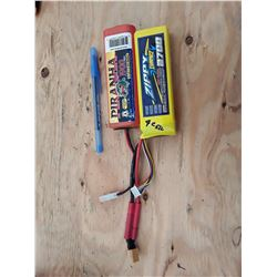 2 Lithium Polymer Batteries For RC