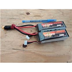 2 WildScorpion 2200 MAH Lithium Polymer Batteries For RC
