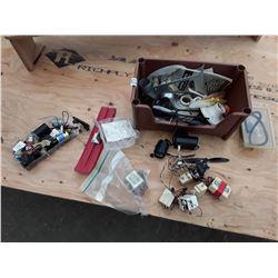 Box of RC Parts, Motors and Supplies