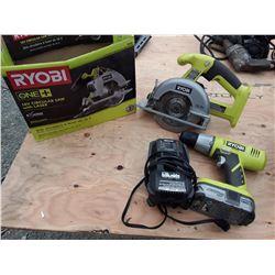 Ryobi Sawzall, Drill, and One Battery