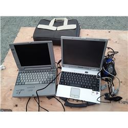 2 Laptops With Chargers and 1 Case