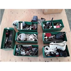 7 pce Metal Drawers of Misc, Tools & Hardware