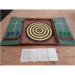 """Vintage Dart Board with Darts """"The Royal Arms"""""""
